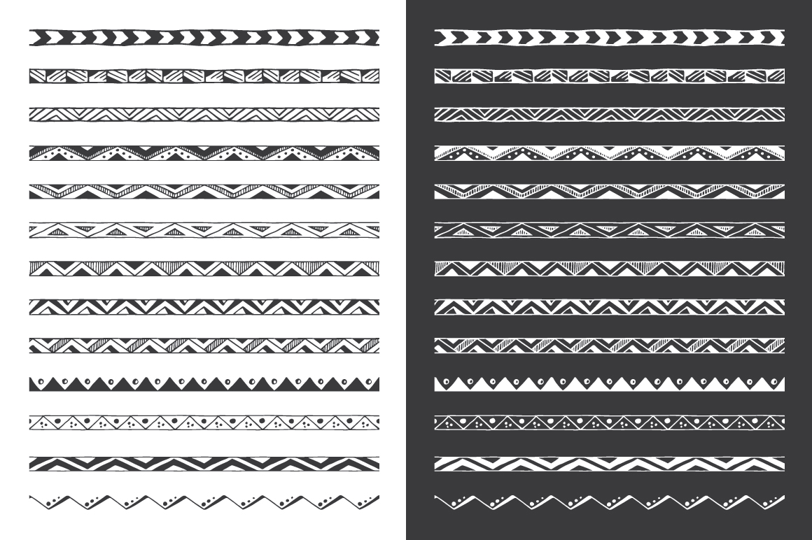 Hand Drawn Pattern Brushes Vol. 01 example image 3