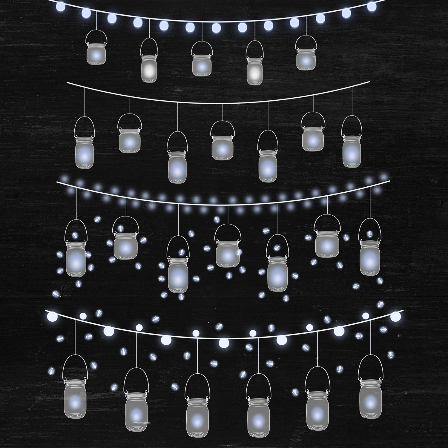 Mason Jar Lights Clipart example image 3