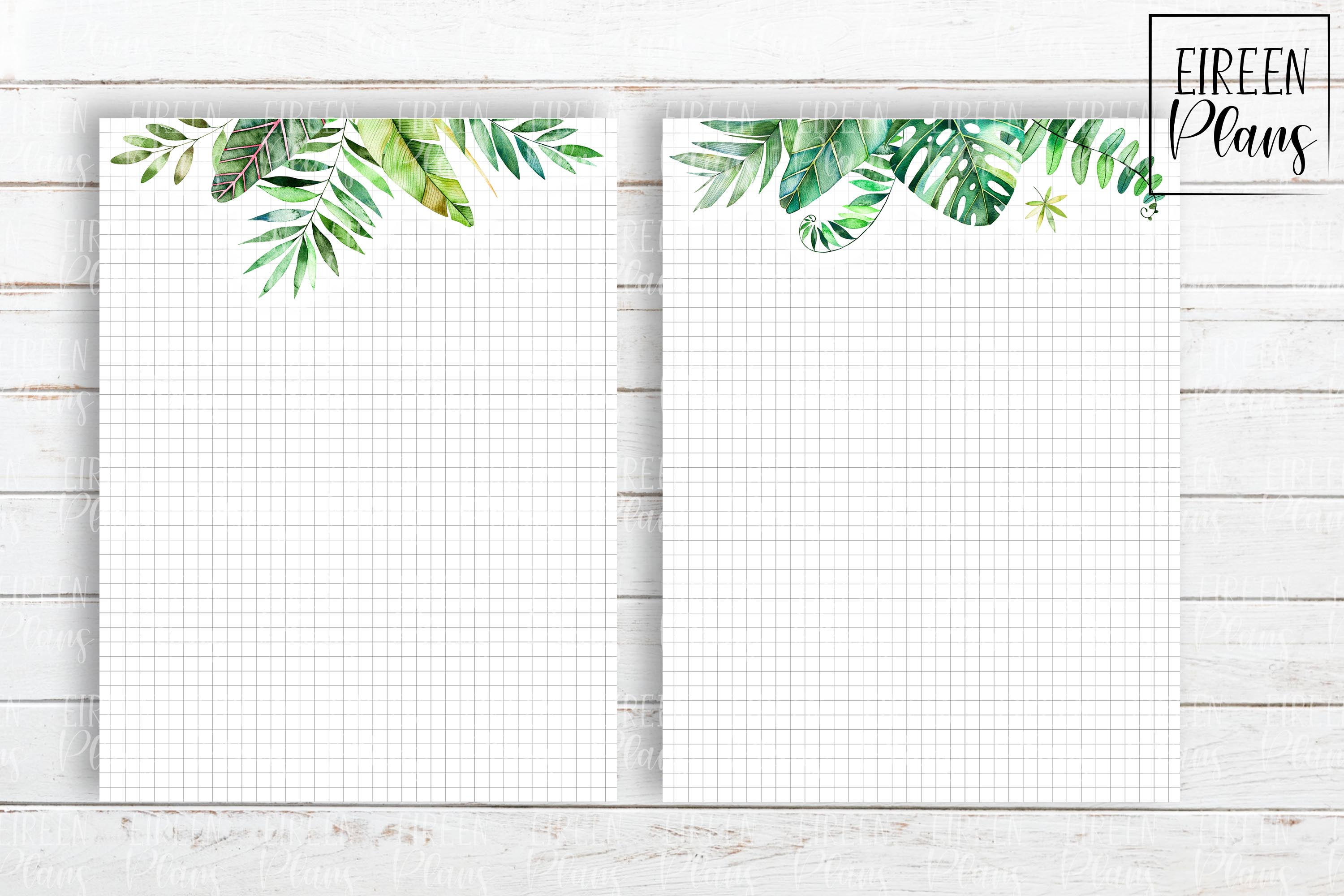 Set of tropical notes for the Classic Happy Planner example image 4
