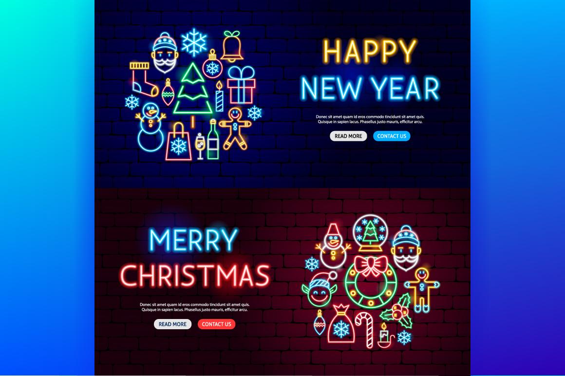 Merry Christmas Neon example image 6