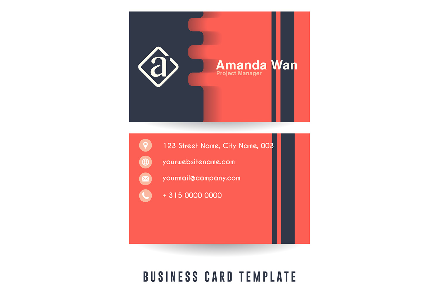 Modern Minimalist Business Card Template example image 3