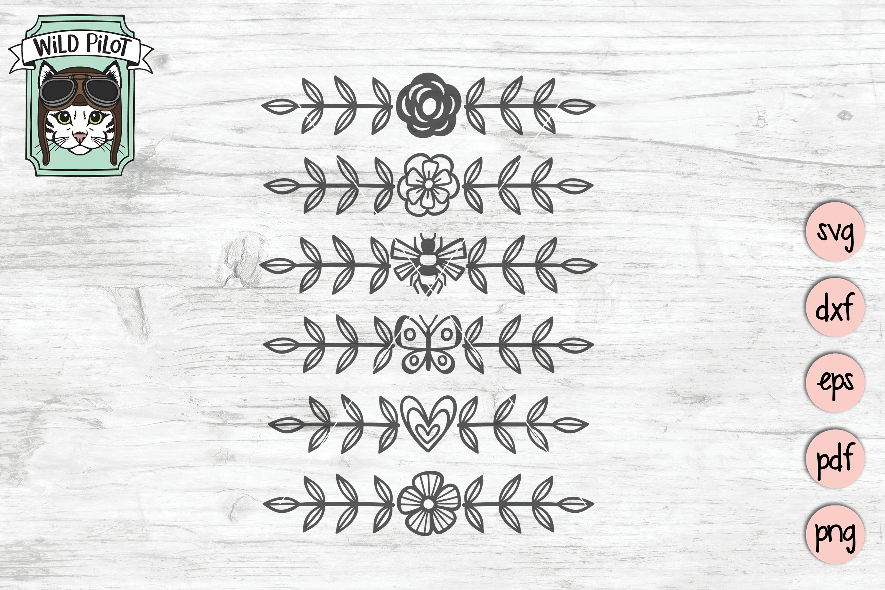 Dividers SVG files, Dividers Cut file, Line Break, Text example image 3