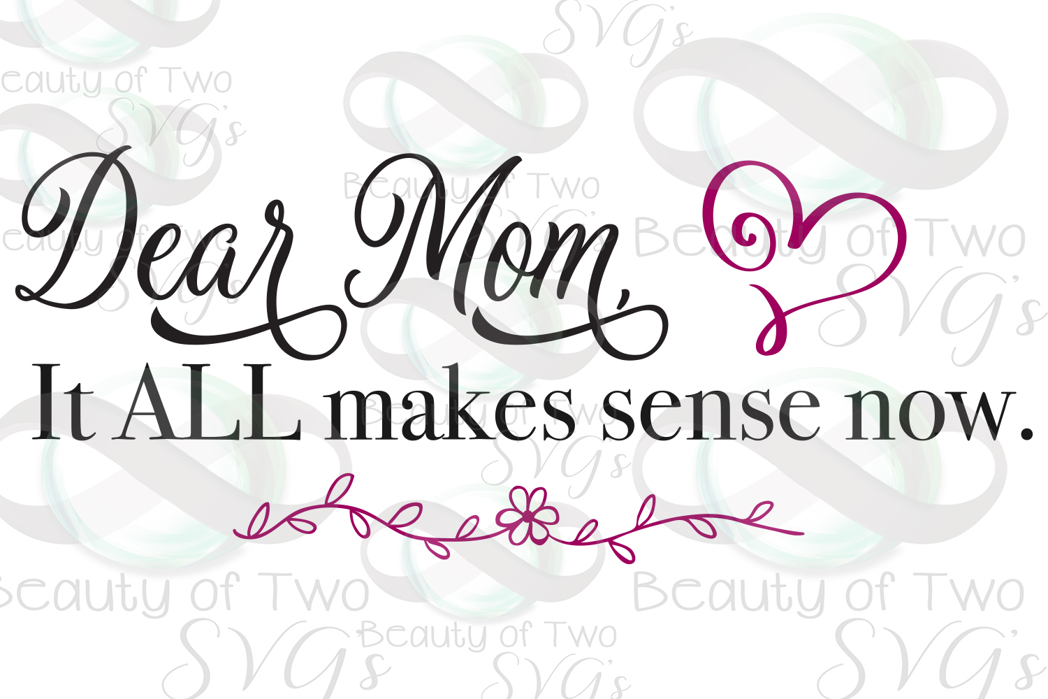 Mothers Day svg & png, Dear Mom svg, Mom love svg, Love Mom example image 3