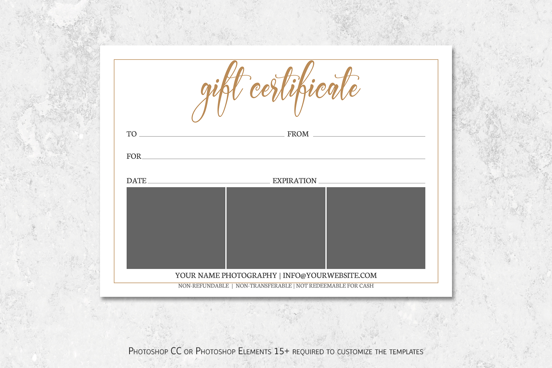 Photography Gift Certificate Template example image 2