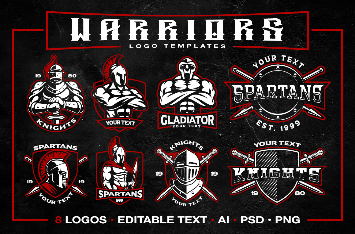 Warriors logo templates example image 1
