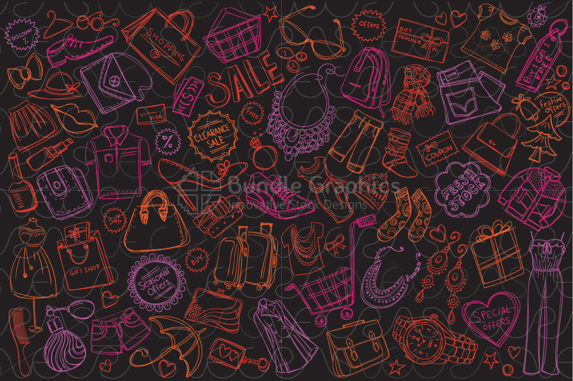 Shopping and Sale Background Pattern example image 1