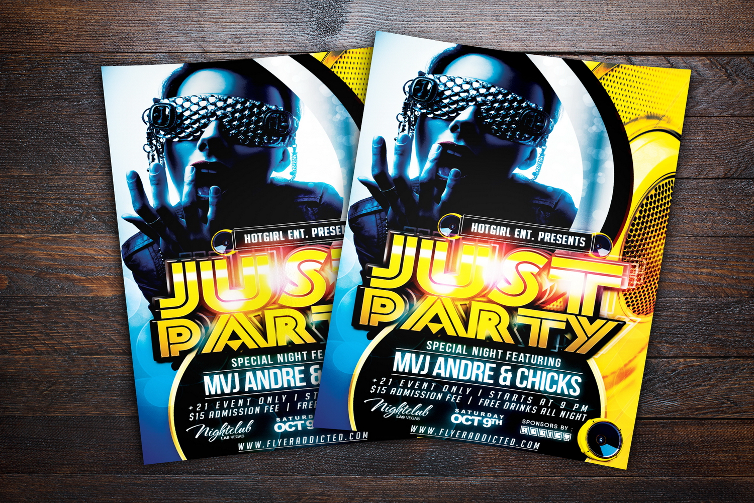 Just Party Flyer example image 2