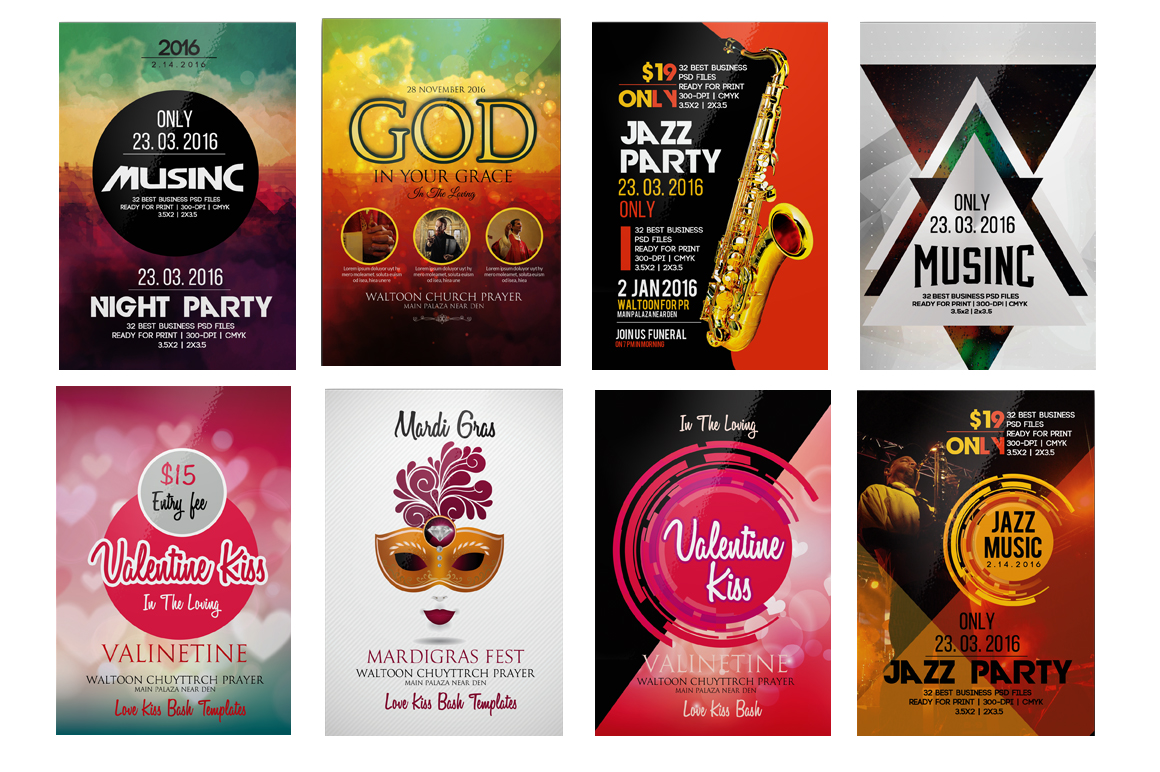 100 Party Flyers Bundle example image 6