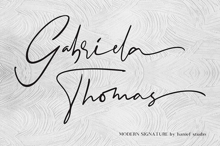 Binetta Signature//Modern Script example image 4