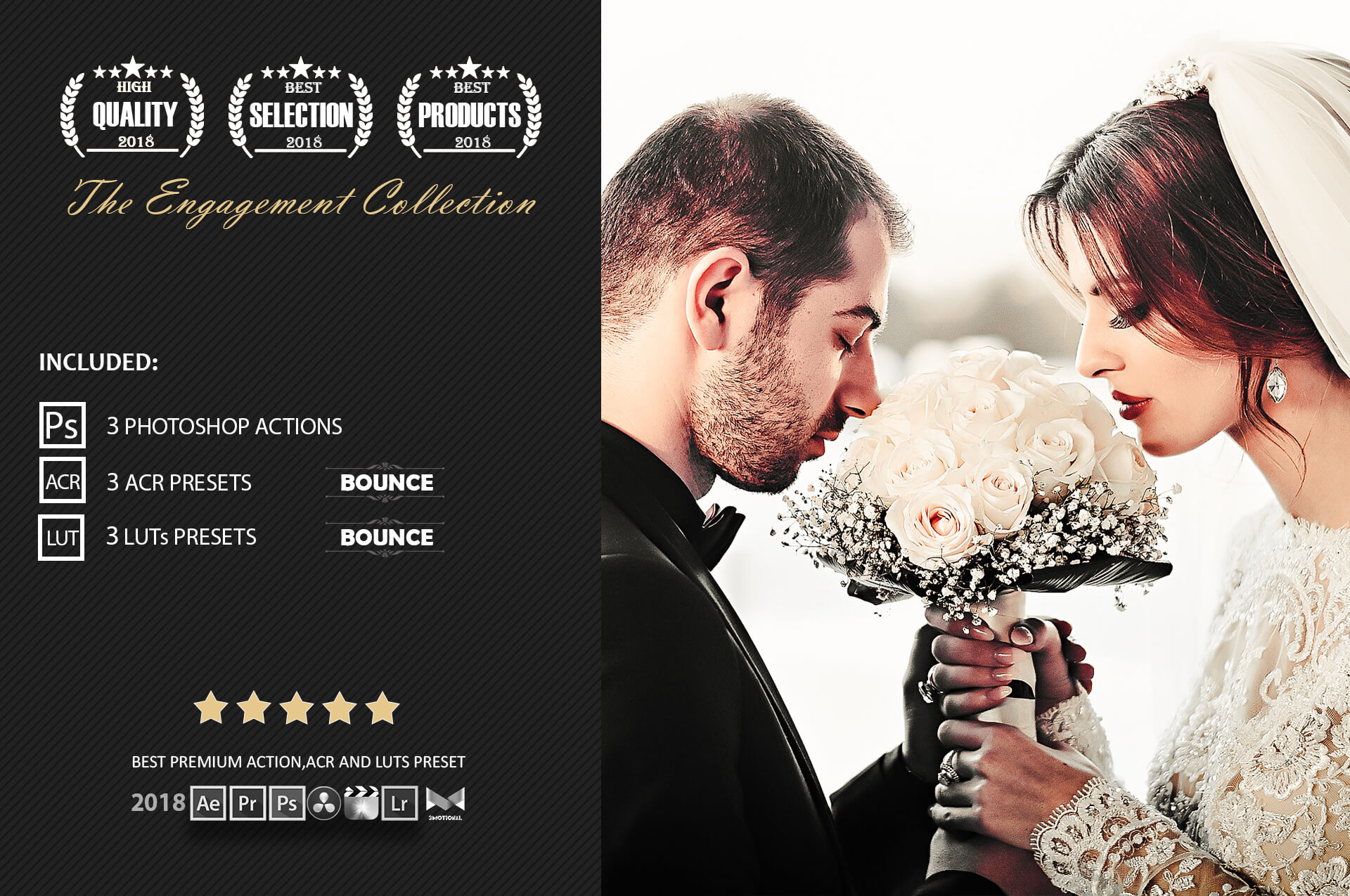 Engagement Color Grading Photoshop actions Filter example image 2