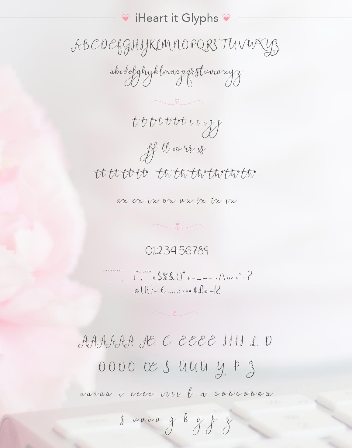 iHeart it wedding font example image 12