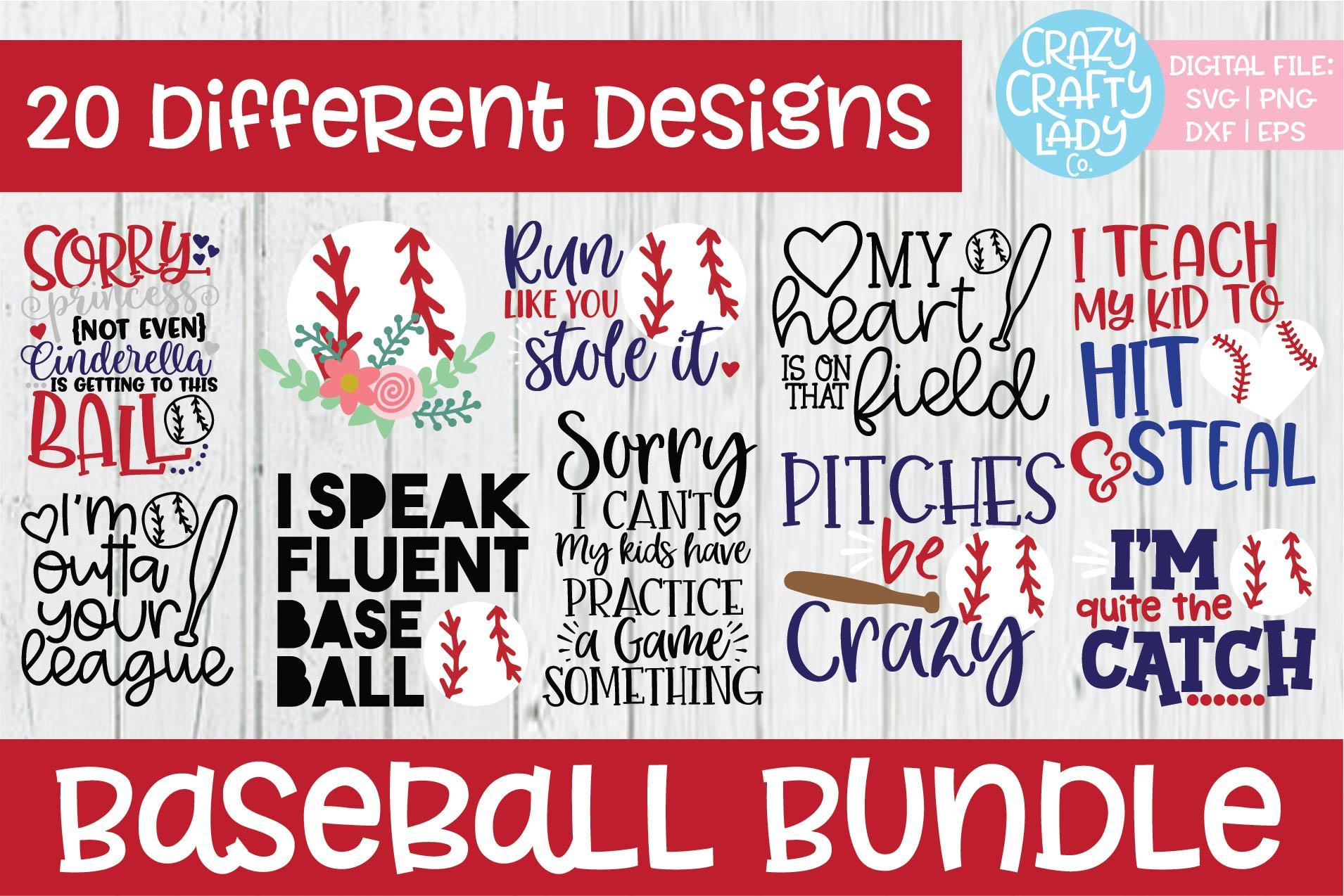 Baseball SVG DXF EPS PNG Cut File Bundle example image 1