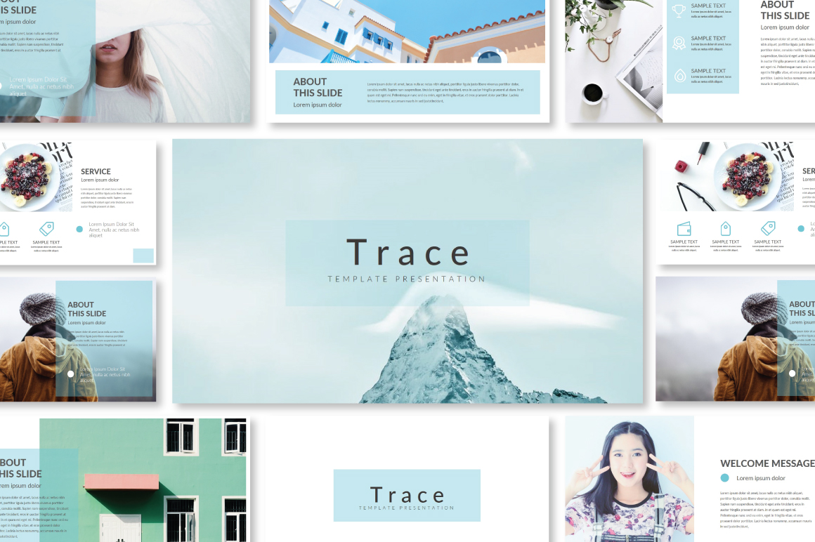 Trace Powerpoint Template example image 1