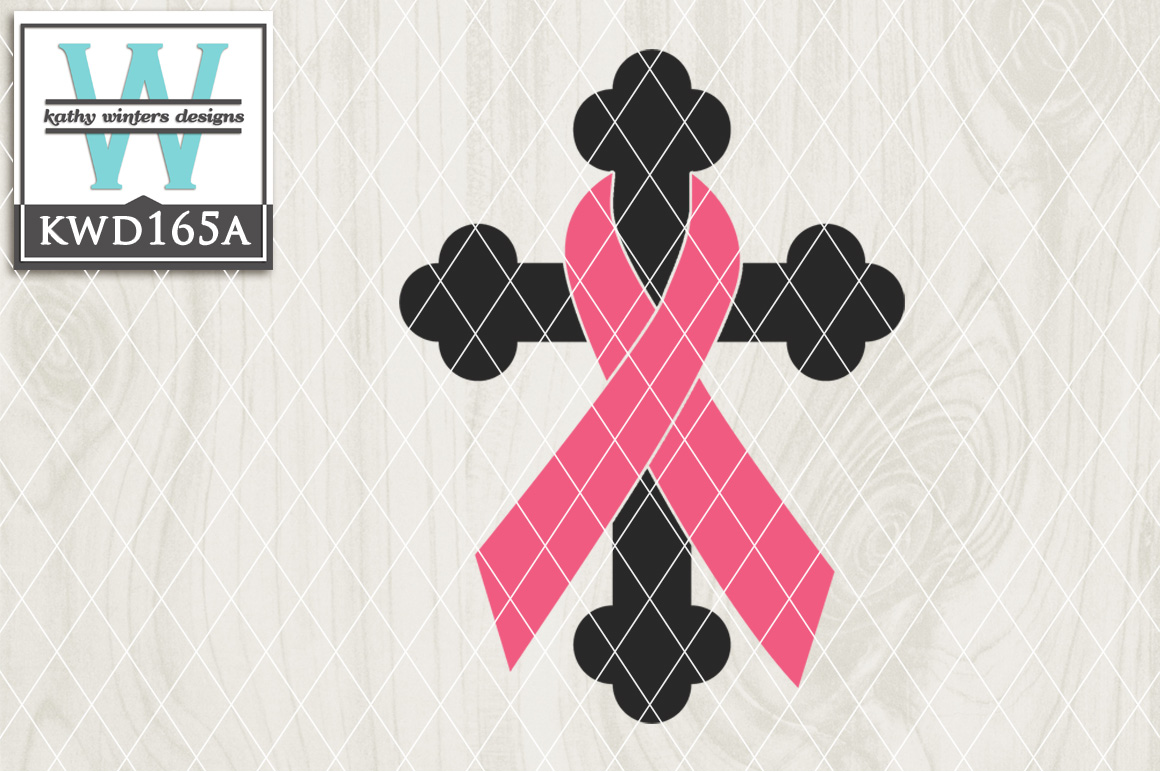 Breast Cancer Awareness Cutting File KWD165A example image 1