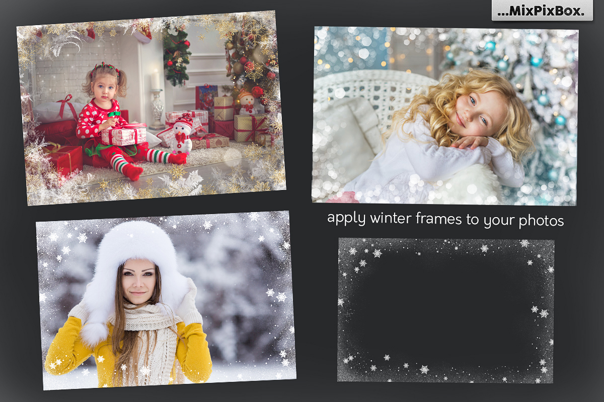 A big set of Winter Frames example image 2