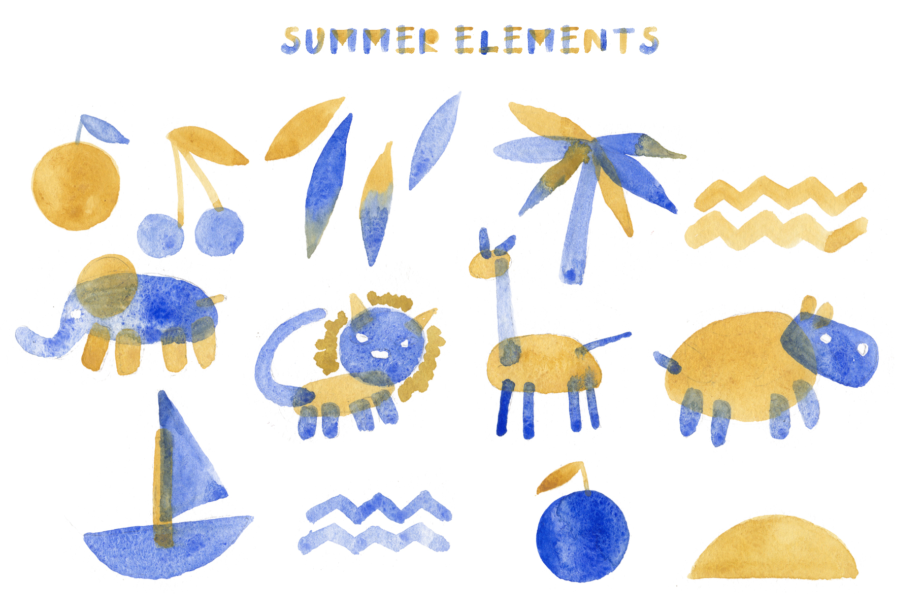 Summertime bitmap color font example image 7