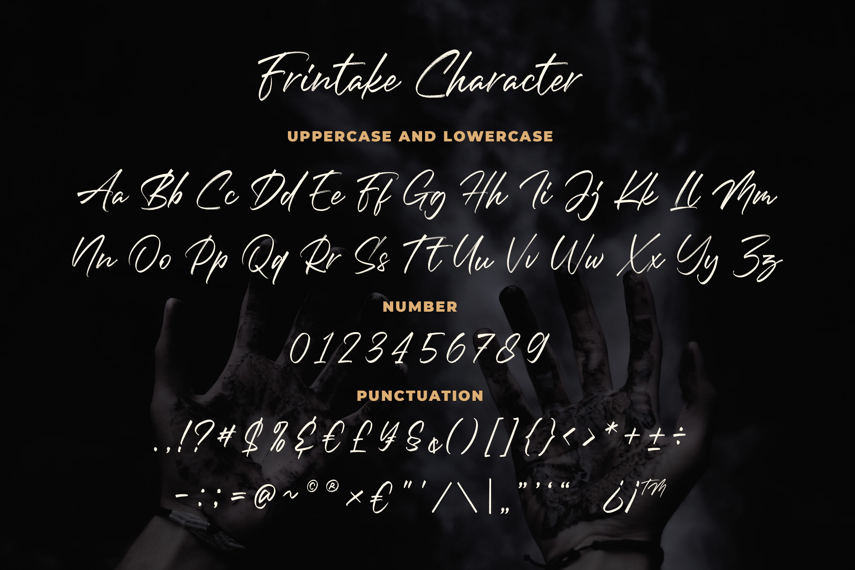 Frintake - Brush Calligraphy Font example image 4