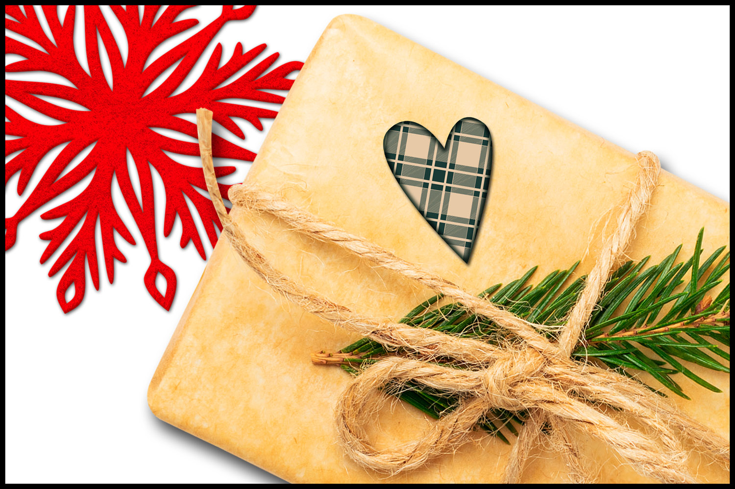 Christmas Clip Art, Holiday Primitive Hearts example image 5