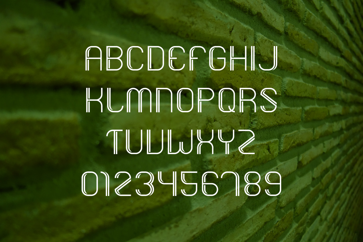 DUPLETO Display font example image 2