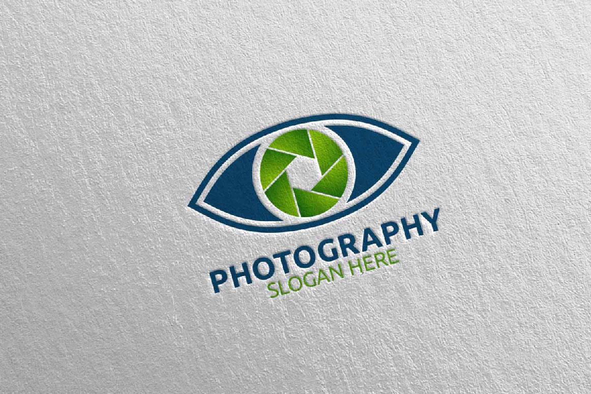 Eyes Camera Photography Logo 14 example image 3