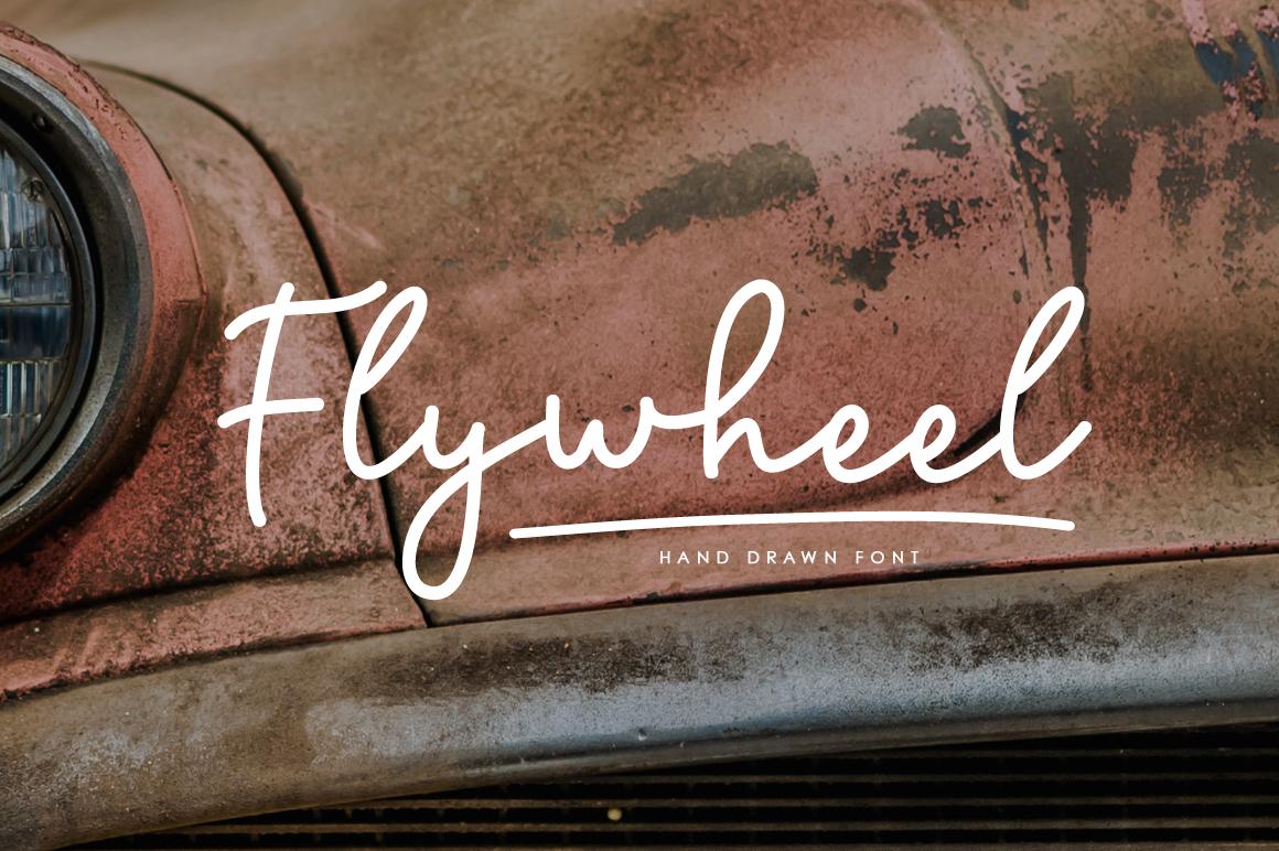 Flywheel Font  Swashes example image 1