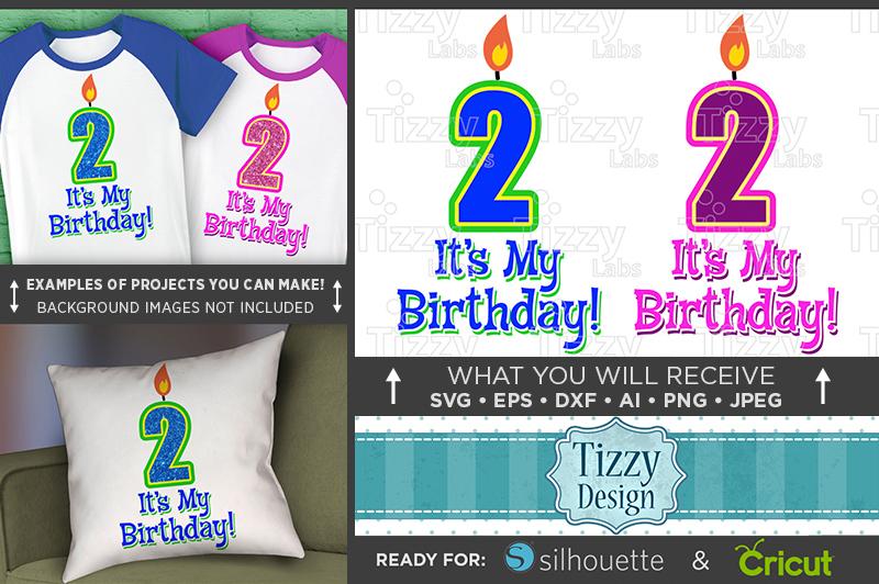2nd Birthday SVG - Its My Birthday SVG Birthday Shirt - 1029 example image 1