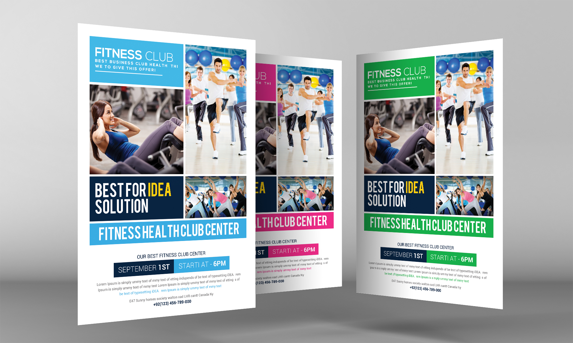 Fitness Health Club Flyer  example image 3