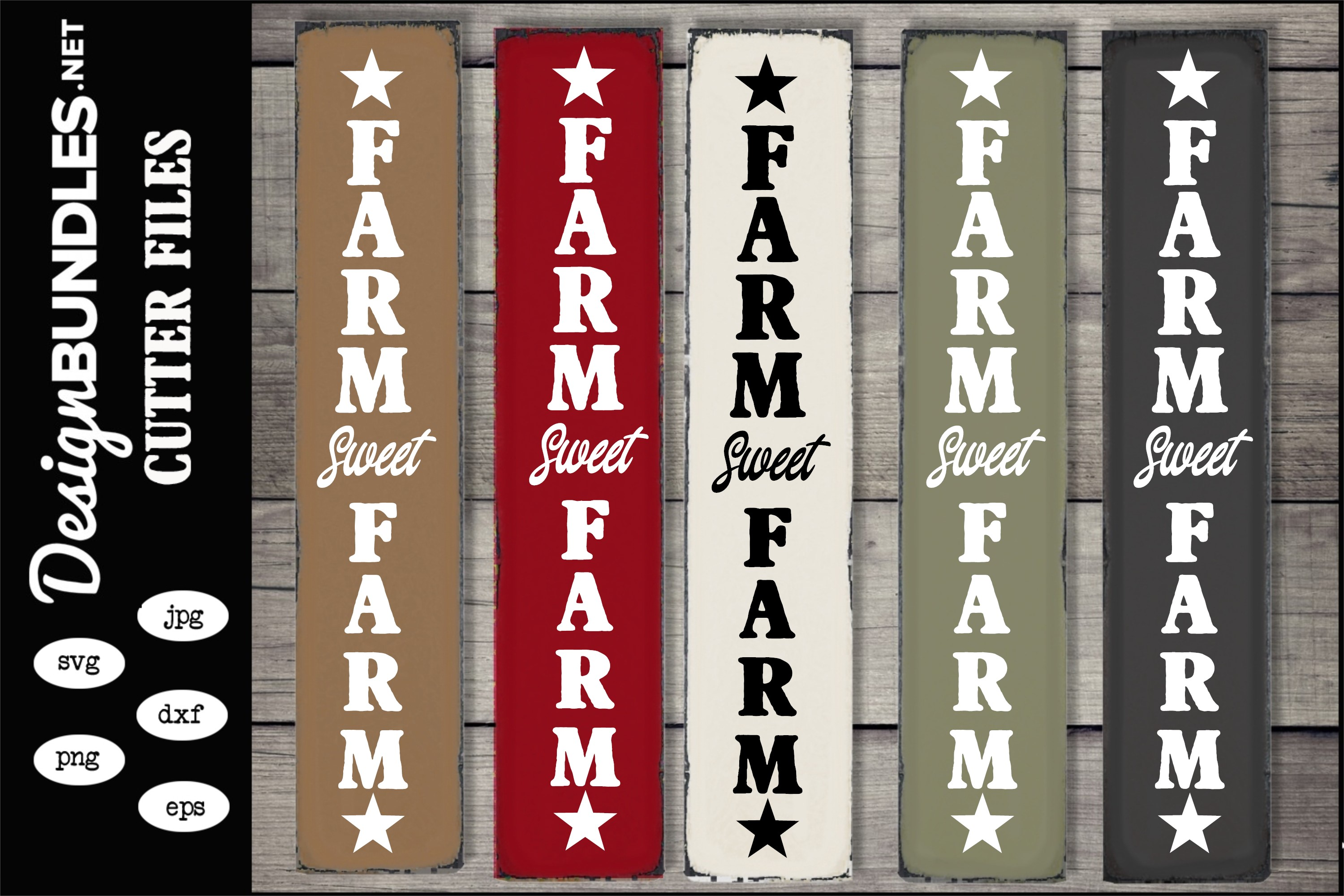 Farm Sweet Farm Vertical SVG example image 1