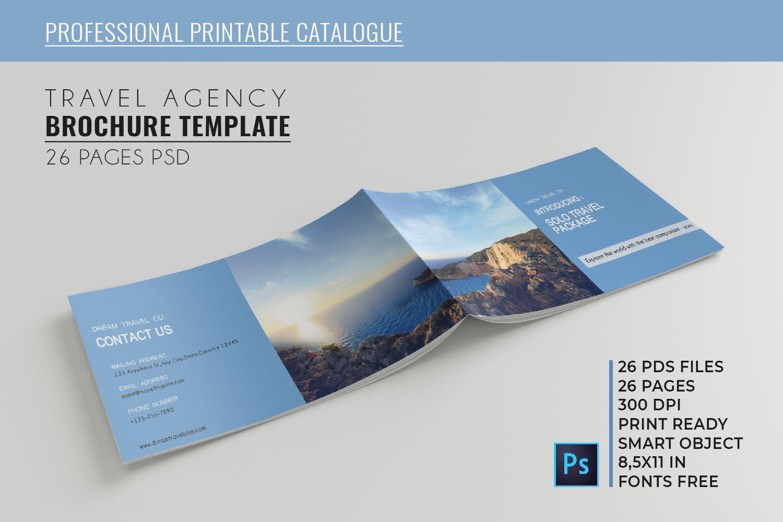 Travel Agency Printable Catalogue - A5-26 PSD Templates example image 1