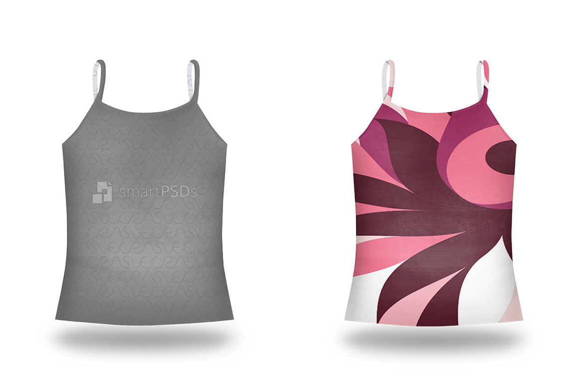 Spaghatti Strap Top Mockup for Sublimation Preview Design example image 1