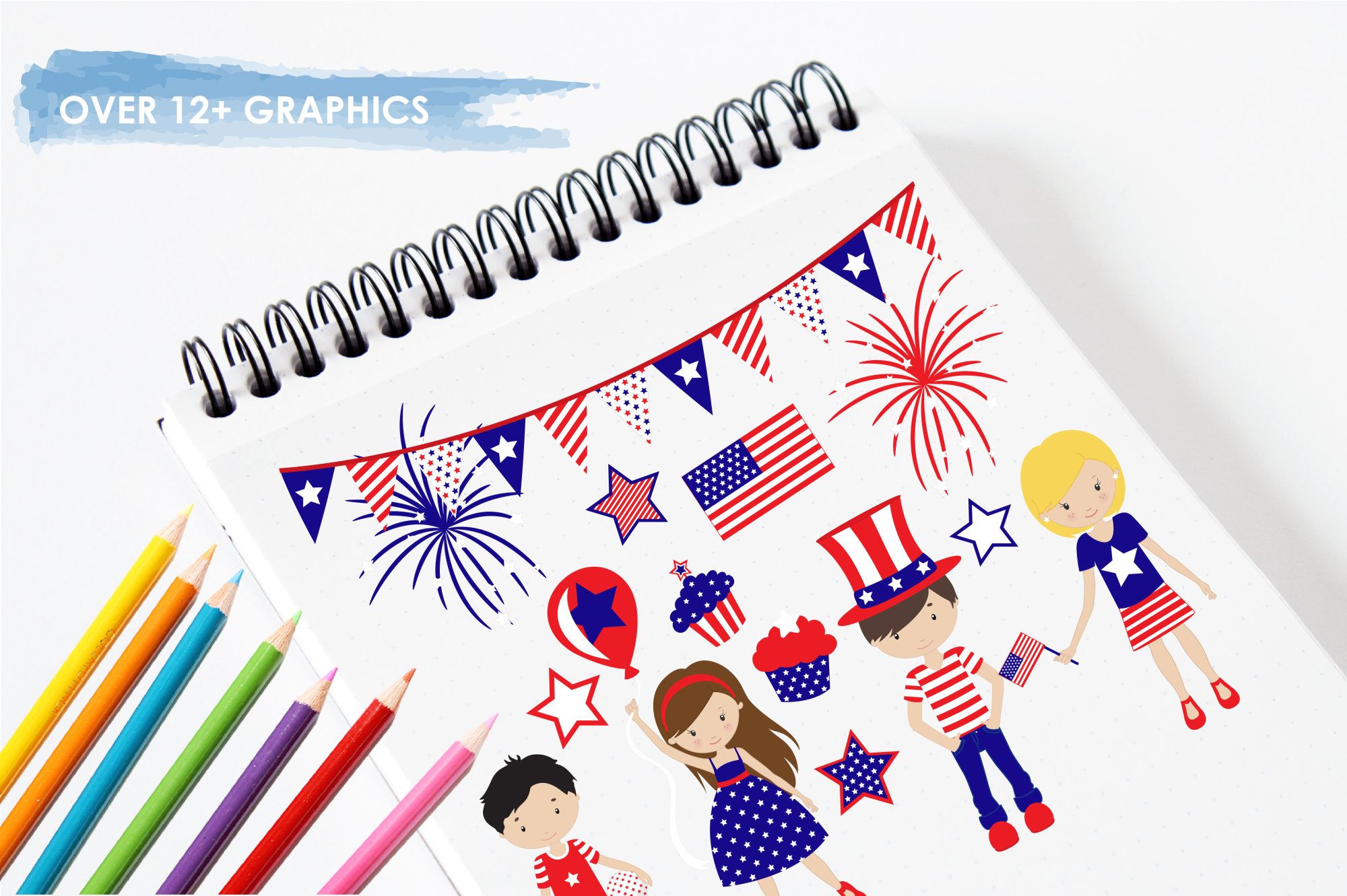 Independence Day graphics and illustrations example image 3