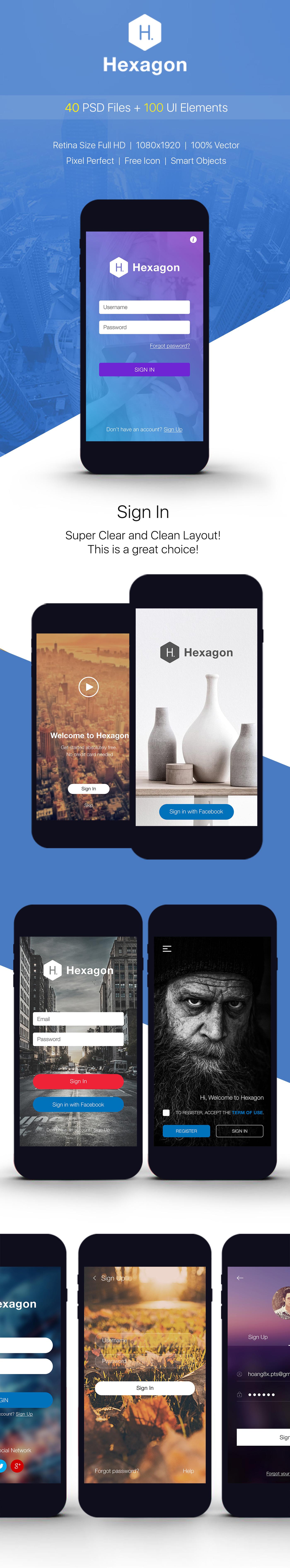 SignUp / Login - Mobile Form UI kit example image 2