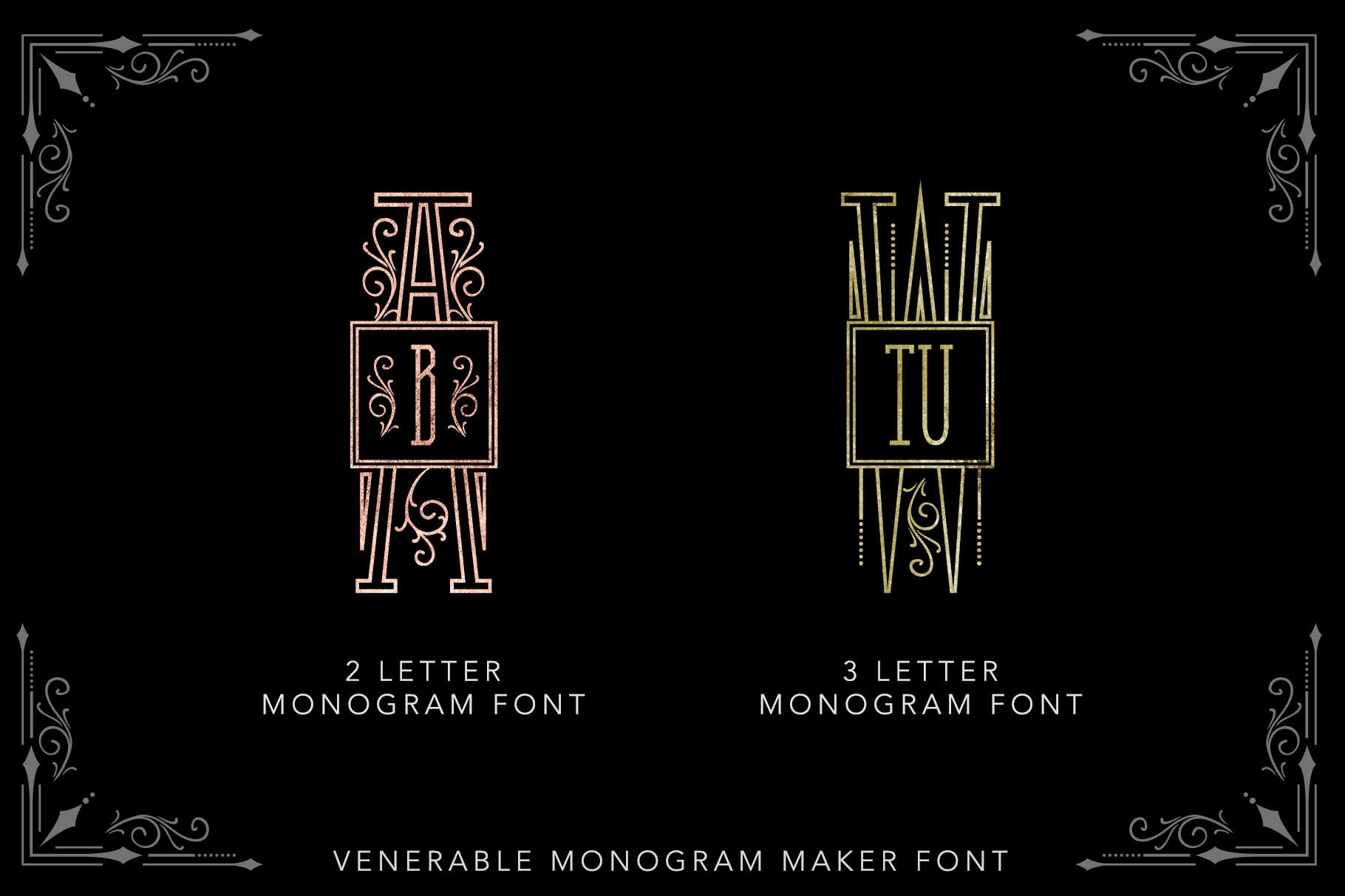 Venerable Monogram Maker Font example image 5