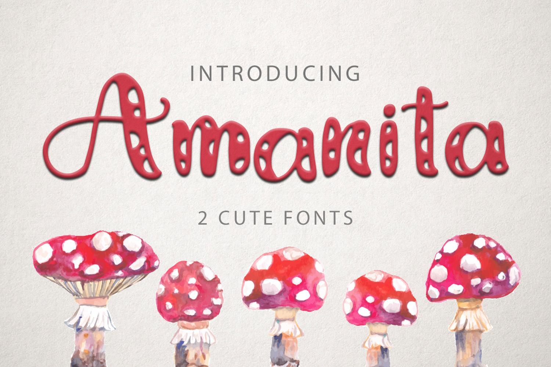 Amanita duo font example image 1