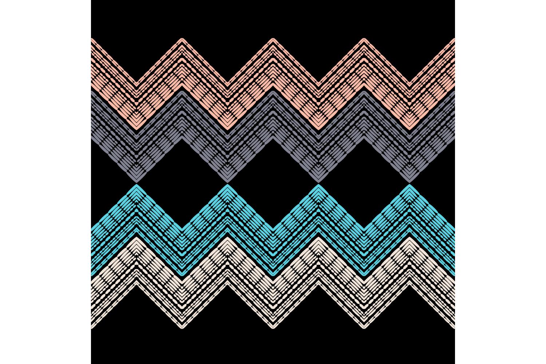 Ethnic boho ornament. Zigzag. Set of 10 seamless patterns. example image 9