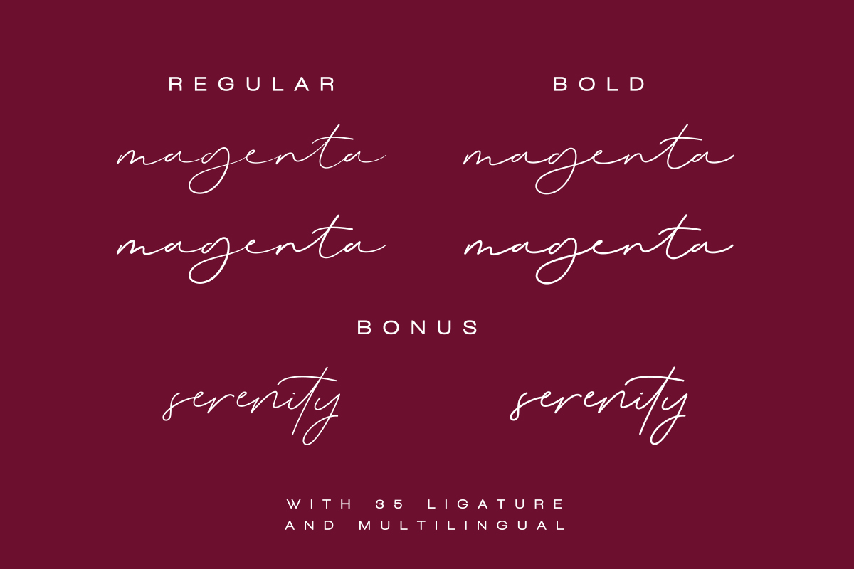 Magenta - 3 Luxury Signature Font example image 13