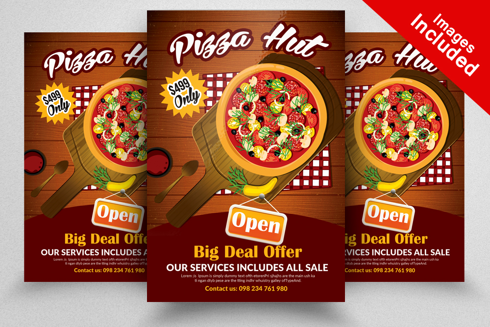 10 Restaurant Flyer Template Bundle example image 8