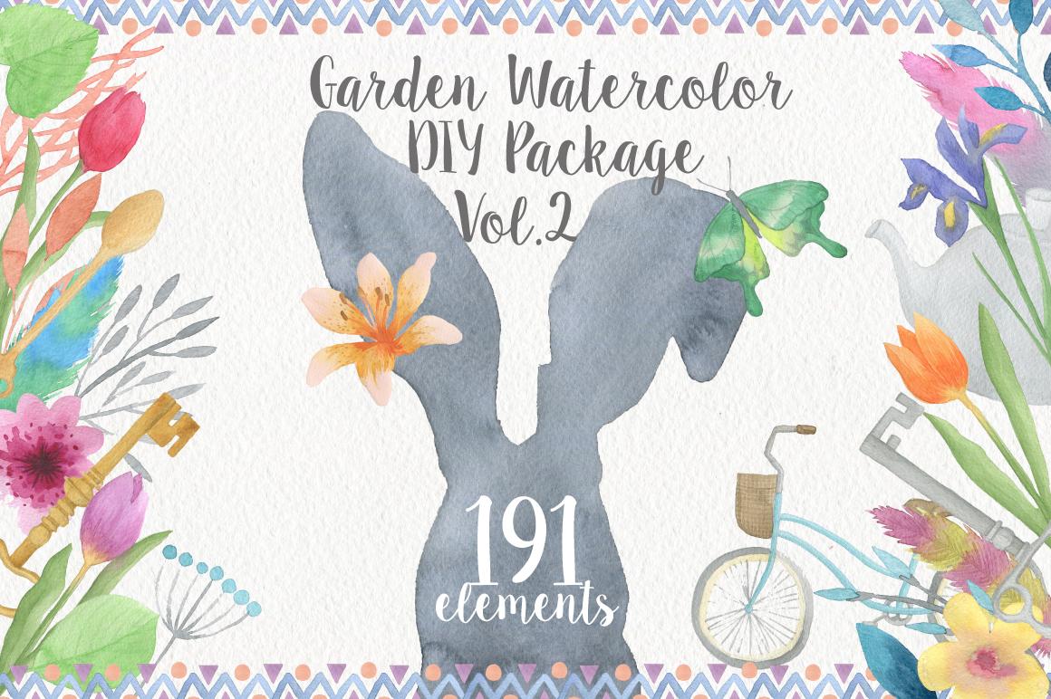 Garden Watercolor DIY example image 1