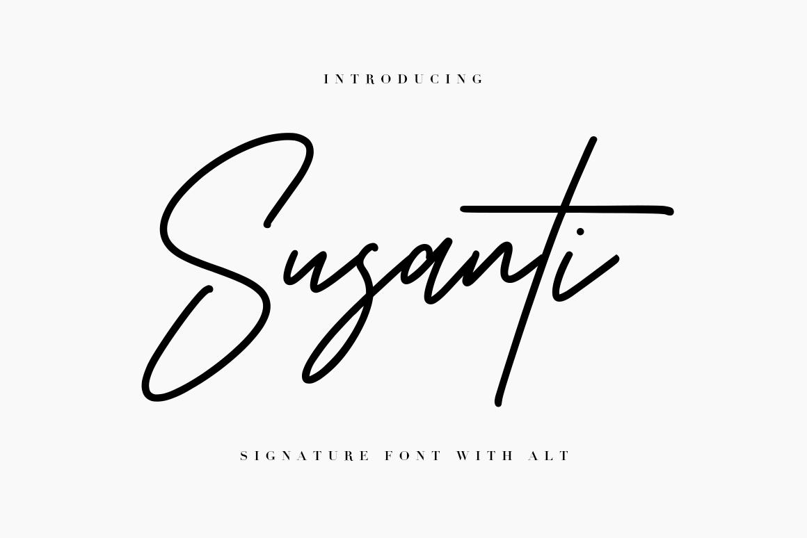 Susanti Signature Font example image 1