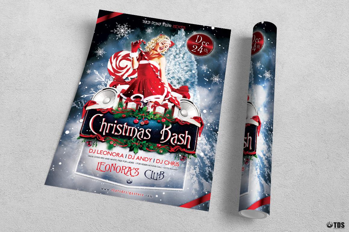 Christmas Bash Flyer Template V1 example image 3