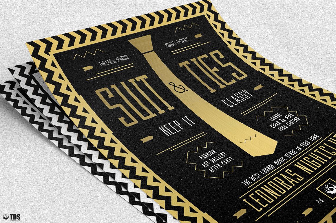 Suit and Tie Flyer Template V3 example image 9