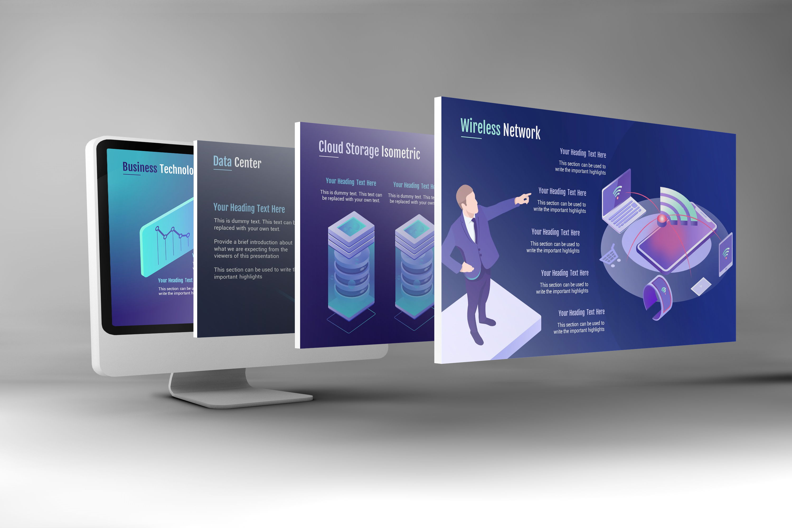 Smart Technology PowerPoint Template example image 6