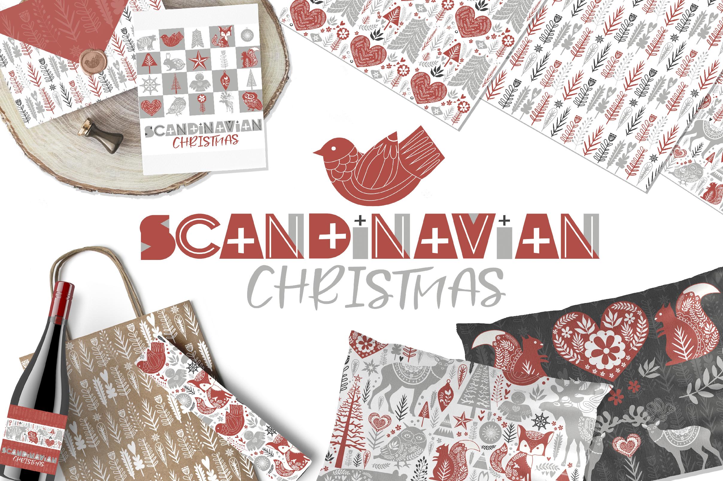 Scandinavian Christmas set example image 7