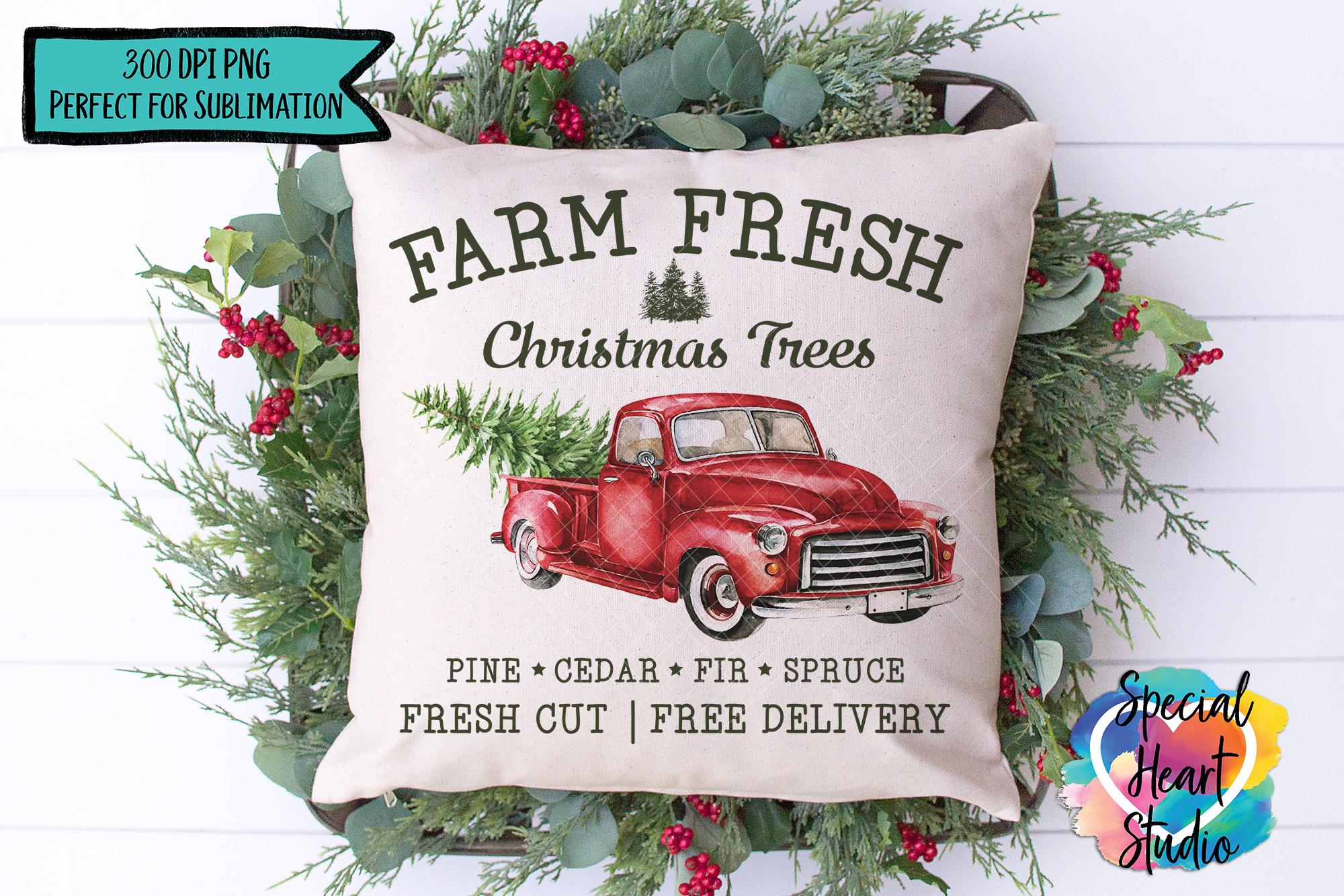 Christmas Sublimation Printable - Farm Fresh Christmas Trees example image 1