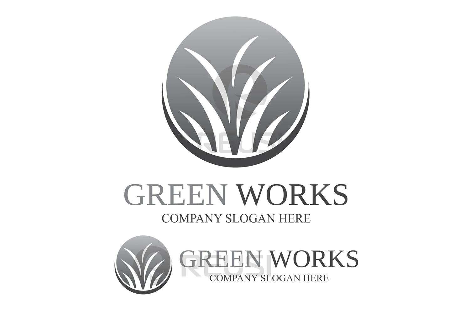 Greenworks Landscaping  Logo Template example image 3