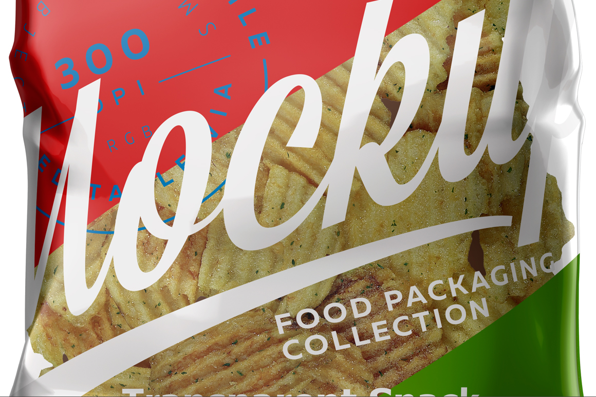 Transparent Snack Package Mockup example image 5