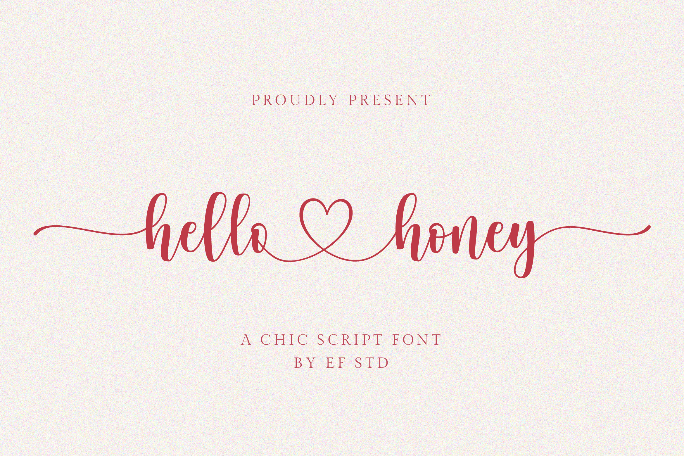 hello honey - a chic script font example image 1