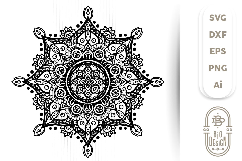 Mandala SVG - Mandala Drawing SVG, Mandala DXF EPS PNG SVG example image 1