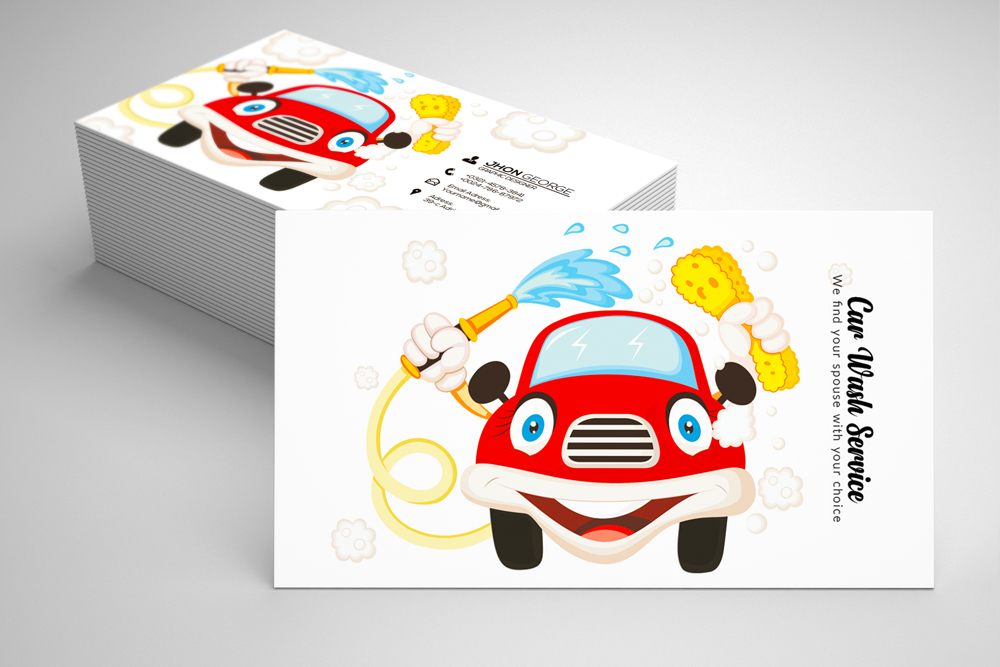 Car Wash Business Card example image 1