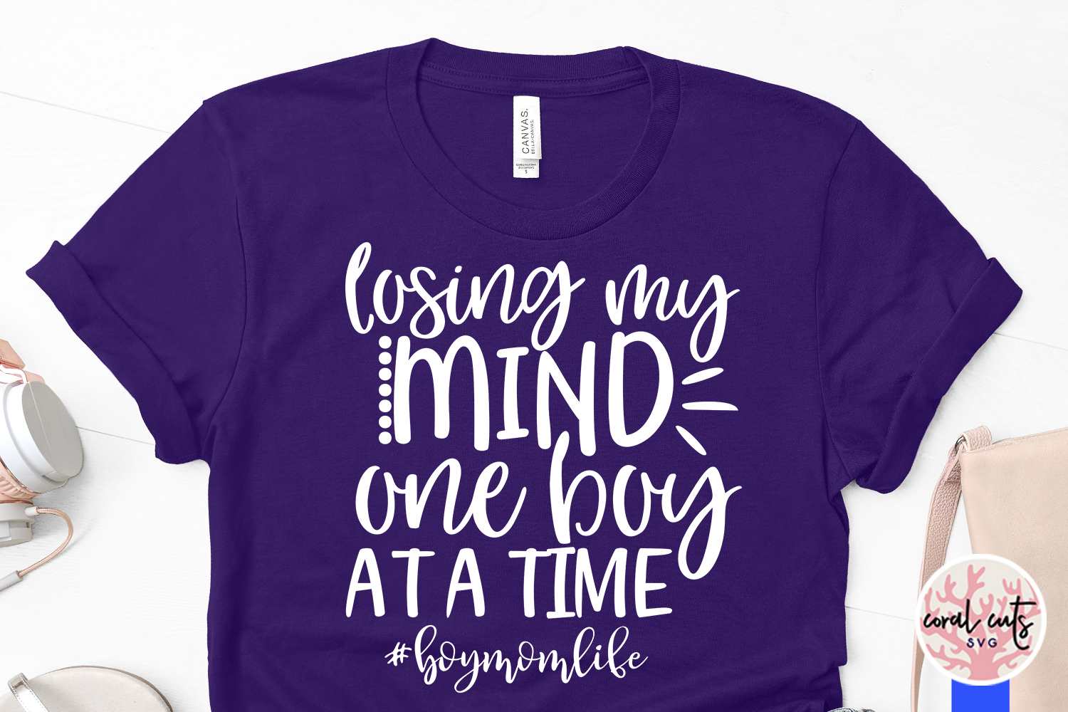 Losing my mind one boy at a time - Mother SVG EPS DXF PNG example image 3